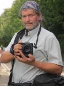 Photographer portrait — Stock Photo
