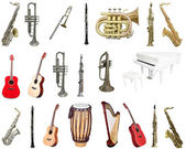 Set of musical instruments — Stock Photo