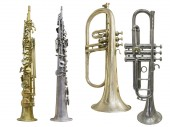 Set of saxophones — Stock Photo