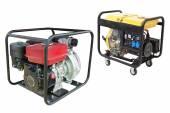Portable generators — Stock Photo