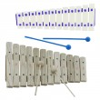 Xylophone on white — Stock Photo #54312489