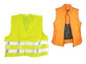 Orange and yellow jackets — Stock Photo