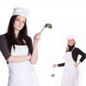 Cooks with a scoops — Stock Photo