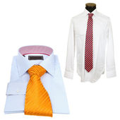 Shirts with tie — 图库照片