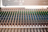 Audio control desk — Stock Photo