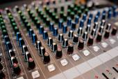 Audio control desk — Stock Photo
