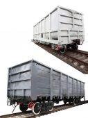 Goods wagons — Stock Photo