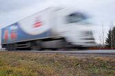 Camion sull'autostrada — Foto Stock