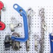 Stand with tools closeup — Stock Photo #61896255