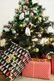 Decorated new year tree — Stock Photo