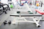 Interior of gym with equipment — Stockfoto