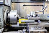 Industrial lathe machine — Stock Photo