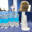 Bottles of water and glasses — Stock Photo #63429659