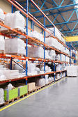 Shelves in the warehouse — Stock Photo