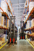 Image of shelves in the warehouse — Stock Photo