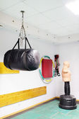Punching bag at gym — Stock Photo