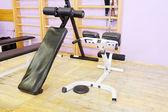 Gym with sport equipment — Stok fotoğraf