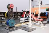 Club gym with sport equipment — Стоковое фото