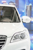 Car  in a showroom — Stock Photo