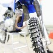 Detail of a motorcycle front wheel — Stock Photo #66023147