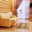 Living room in the cottage — Stock Photo #66023375