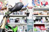 Handlebar motorcycle transport — Stock Photo