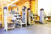 Gym with sport equipment — Foto de Stock