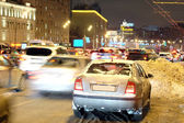 Multikilometer traffic in Moscow — Stock Photo