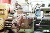 Lathe machine closeup — Foto de Stock