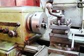Lathe machine closeup — Foto de Stock