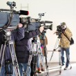 Journalists taking an interview — Stock Photo #66429069