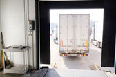 Truck are loaded at the warehouse — Stock Photo