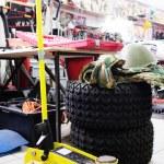 Car repair lifting jack — Stock Photo #66560347