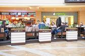 Shopping center Afimall City in Moscow — Stok fotoğraf