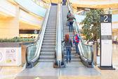 Escalator in Shopping center Afimall City — Stok fotoğraf