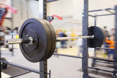 Barbell plates in gym — Stock Photo