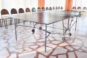 Table tennis in indoor — Stok fotoğraf