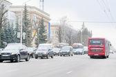 Traffic jams in Tula, Russia — Stock fotografie