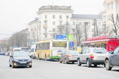 Cars on parking in Tula — Stock fotografie