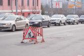 Traffic jams in Bryansk — Stock fotografie
