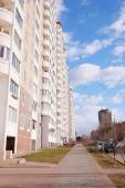 Modern new building in city Domodedovo — Stock Photo