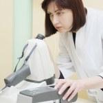 Female doctor optometrist — Stock Photo #70684503