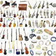 Different music instruments — Stock Photo #70774115