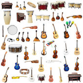 Different music instruments — Stock Photo
