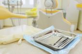 Tools in  stomatologist's office — Stock Photo
