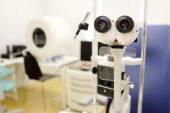 Microscope  in  oculist office — Stock Photo