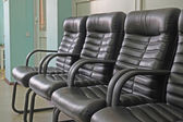 Leather chairs in  row — 图库照片