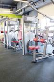 Interior of  fitness club gym — Stock Photo