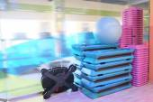 Sport equipment in gym — Stock Photo