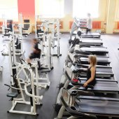 Fitness gym sport club — Stockfoto